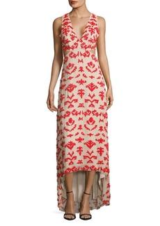 Alice + Olivia Julia Sleeveless Embroidered Dress