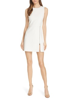 Alice + Olivia Julie Zip Detail A-Line Minidress