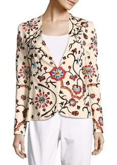 Alice + Olivia Juliet Printed Long-Sleeve Jacket