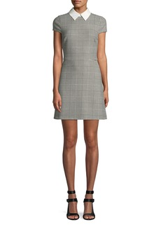 Alice + Olivia Julissa Collared Check Mini Dress