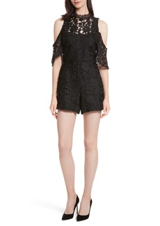 Alice + Olivia Junie Cold Shoulder Lace Romper