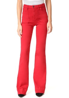 alice + olivia Juno High Waisted Wide Leg Jeans