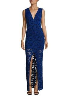 Alice + Olivia Kahlo Front Slit Dress