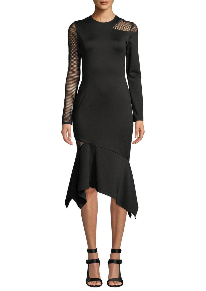 Alice + Olivia Kaine Fitted Mesh Combo Dress