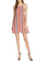 Alice + Olivia Kalia Stripe Tie Back Minidress
