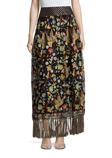 Alice + Olivia Kamryn Embroidered Skirt