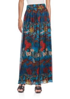 Alice + Olivia Kamryn Printed Maxi Skirt