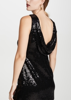 alice + olivia Kamryn Sequin Two Way Cowl Dress