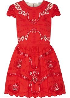 Alice + Olivia Karen broderie anglaise cotton mini dress