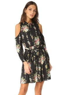 alice + olivia Karina Cold Shoulder Shirt Dress