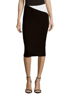 Alice + Olivia Karissa Angled Pencil Skirt