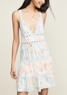 alice + olivia Karolina Halter Mini Dress