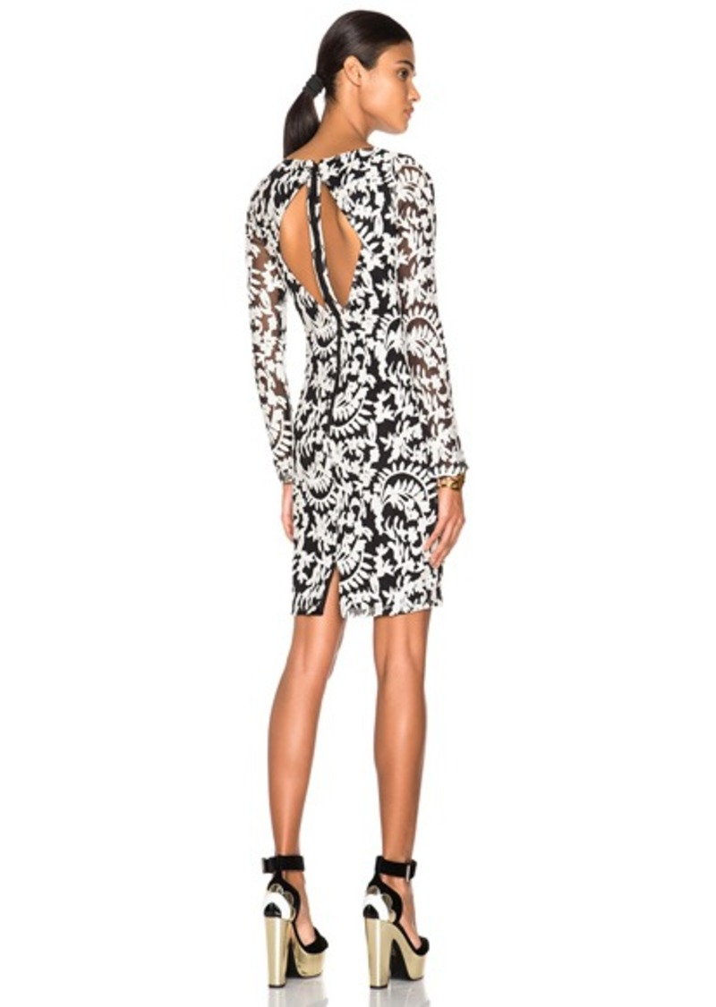 Alice + Olivia Katy Open Diamond Back Dress