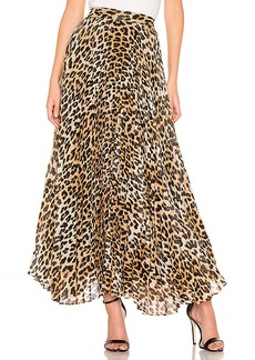 Alice + Olivia Katz Pleated Maxi Skirt
