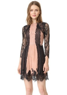 alice + olivia Kaylen Lace 3/4 Sleeve Dress