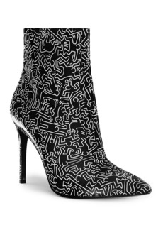 Alice + Olivia Keith Haring x Alice + Olivia Dancing Man Leather Booties