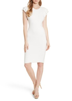Alice + Olivia Kellin Ruffle Sleeve Sweater Dress