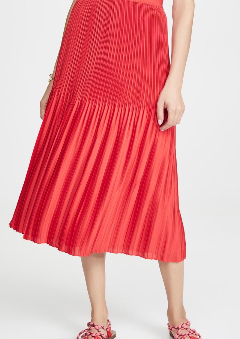alice + olivia Ken Pleated Midi Skirt