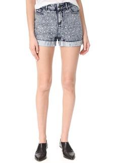 alice + olivia Kenda Studded High Waisted Shorts