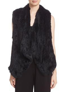 Alice + Olivia 'Kensie' Draped Genuine Rabbit Fur Vest