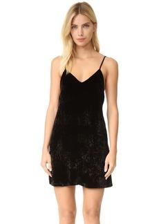 alice + olivia Kera Velvet Slip Dress