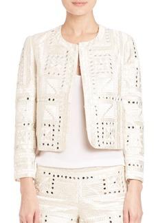 Alice + Olivia Kidman Embroidered Jacket