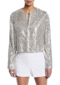 Alice + Olivia Kidman Sequin Embellished Jacket