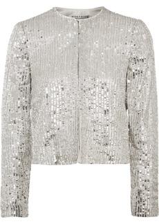 Alice + Olivia Kidman Sequined Crepe Jacket