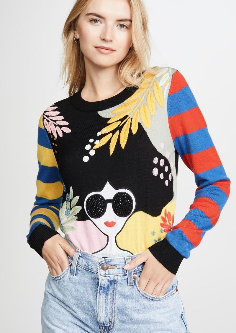 alice + olivia Killian Embellished Sweater