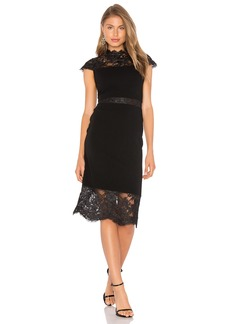 Alice + Olivia Kim Lace Midi Dress