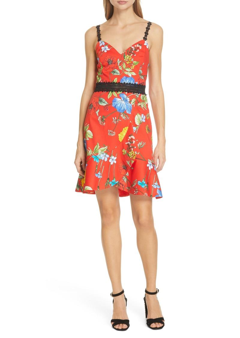 Alice + Olivia Kirby Floral Tulip Hem Dress
