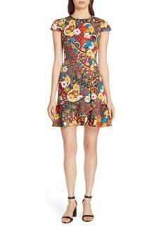 Alice + Olivia Kirby Ruffle Hem Dress