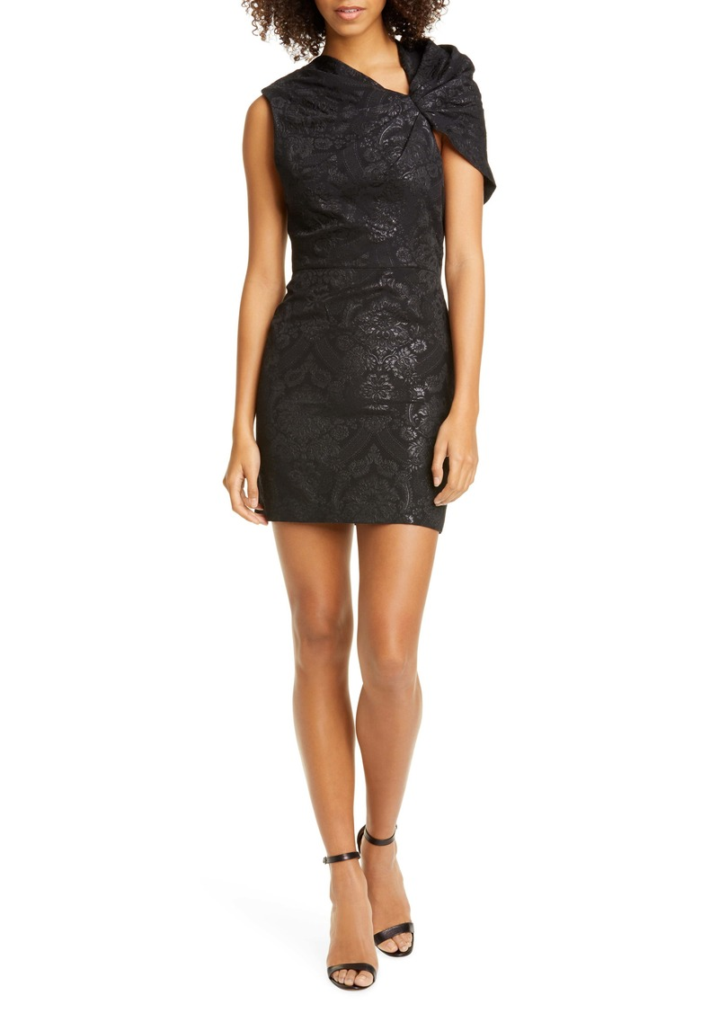 Alice + Olivia Kiro Ruffle Shoulder Minidress