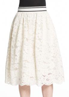 Alice + Olivia Kizzy Lace Midi Skirt