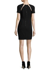 Alice + Olivia Kristiana Fitted Sheath Dress W/ Inserts