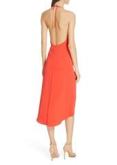 Alice + Olivia Kristy Halter Neck High/Low Dress