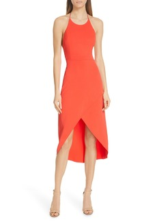 Alice + Olivia Kristy Halter Neck High/Low Dress