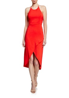 Alice + Olivia Kristy High-Low Halter Dress