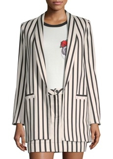 Alice + Olivia Kylie Striped Jacket
