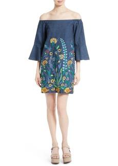 Alice + Olivia Kyra Embroidered Tunic Dress