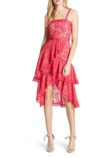 Alice + Olivia Lace Asymmetrical Dress