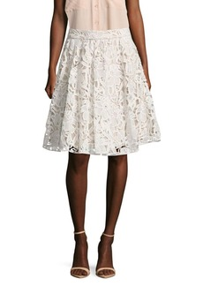 Alice + Olivia Lace Floral Skirt
