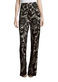 Alice + Olivia Lace High-Waist Straight-Fit Pants