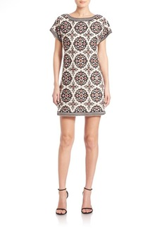 Alice + Olivia Lani Medallion-Print Shift Dress