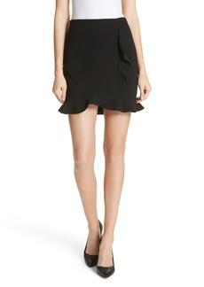 Alice + Olivia Lani Overlap Ruffle Mini Skirt