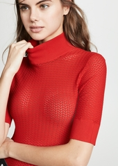 alice + olivia Lanie Pointelle Pullover