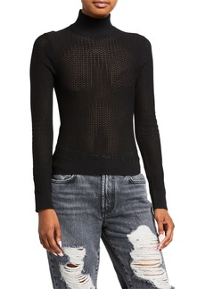 Alice + Olivia Lanie Turtleneck Long-Sleeve Pullover