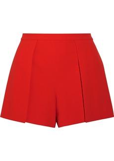 Alice + Olivia Larissa draped crepe shorts