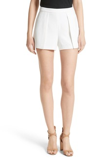 Alice + Olivia Larissa Pleat Front Shorts