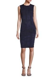 Alice + Olivia Larita Suede Lace-Up Dress